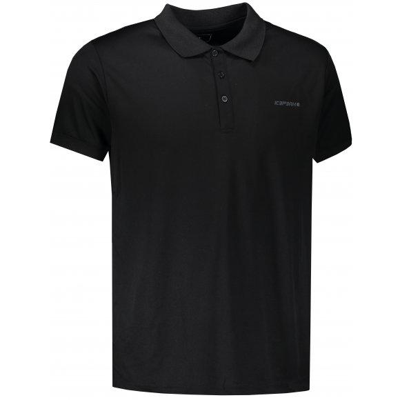 Pánské tričko s límečkem ICEPEAK KYAN 57630590 BLACK