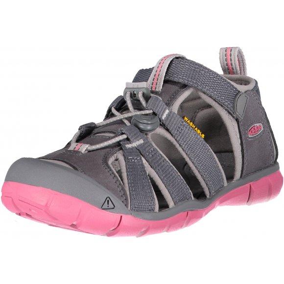 Dětské sandály KEEN SEACAMP II CNX JR STEEL GREY/RAPTURE ROSE