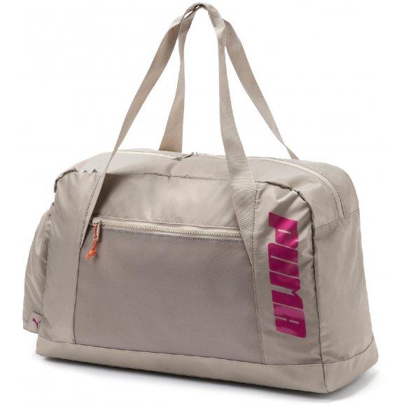 Dámská sportovní taška PUMA AT GRIP BAG 07572904 SILVER GRAY