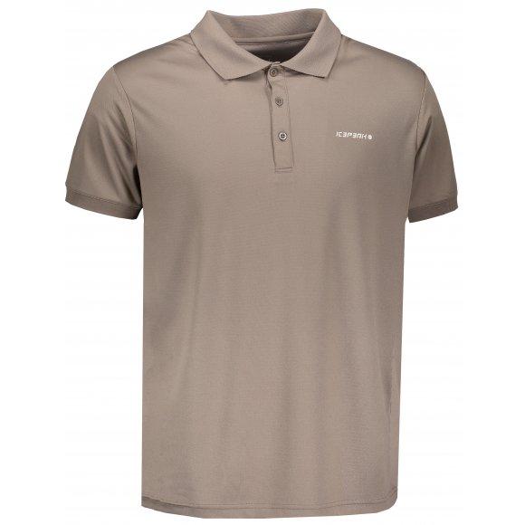 Pánské tričko s límečkem ICEPEAK KYAN 57630590 CAFE AU LAIT