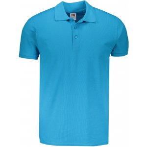 Pánské triko s límečkem FRUIT OF THE LOOM PREMIUM POLO AZURE BLUE