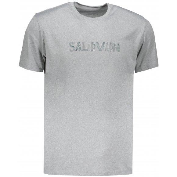 Pánské funkční triko s krátkým rukávem SALOMON AGILE GRAPHIC TEE M LC1036600 ALLOY