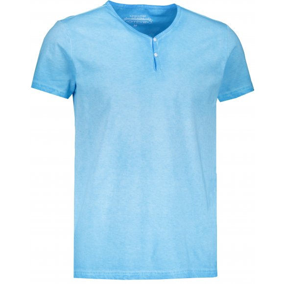 Pánské triko OMBRE AS894 LIGHT BLUE