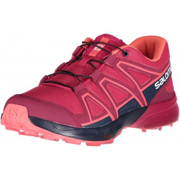 Dětské běžecké boty SALOMON SPEEDCROSS J L40482100 CERISE/NAVY BLAZER/DUBARRY