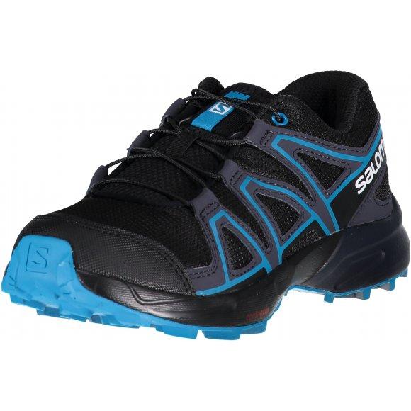 Dětské běžecké boty SALOMON SPEEDCROSS J L40482000 BLACK/GRAPHITE/HAWAIIAN SURF