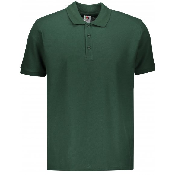 Pánské triko s límečkem FRUIT OF THE LOOM PREMIUM POLO BOTTLE GREEN
