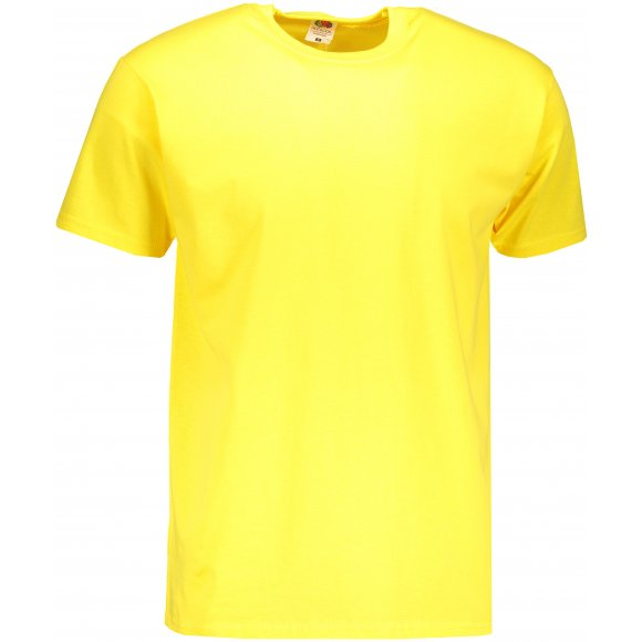 Pánské triko FRUIT OF THE LOOM VALUEWEIGHT T YELLOW