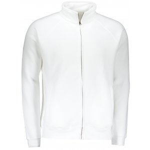 Pánská mikina FRUIT OF THE LOOM PREMIUM SWEAT JACKET WHITE