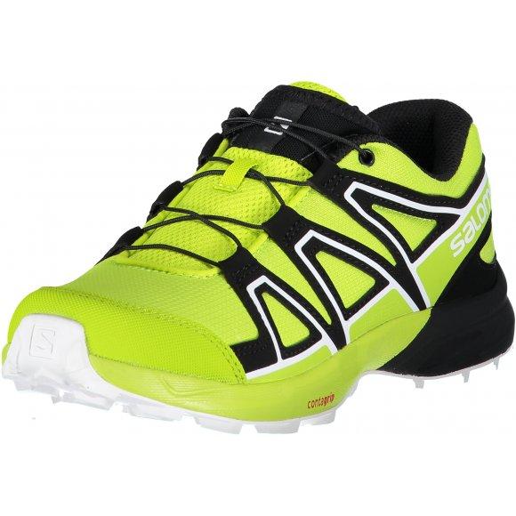 Dětské běžecké boty SALOMON SPEEDCROSS J L40654400 ACID LIME/LIME GREEN/WHITE
