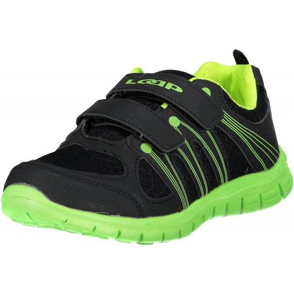 Dětské sportovní boty LOAP NERA KBJ1501 ČERNÁ/ZELENÁ