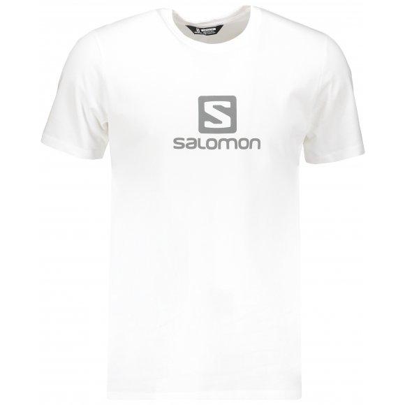 Pánské triko SALOMON COTON LOGO SS TEE M LC1052100 WHITE