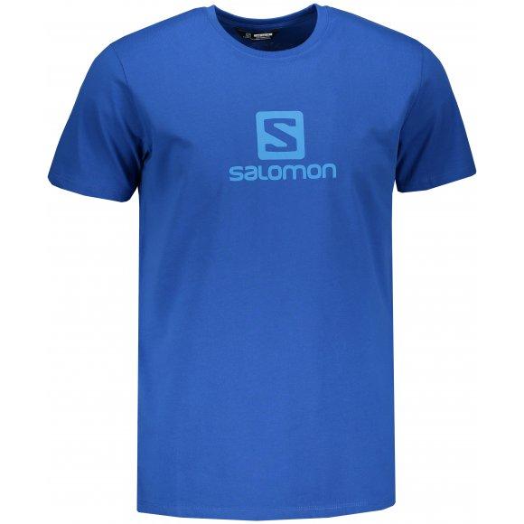 Pánské triko SALOMON COTON LOGO SS TEE M LC1052200 NAUTICAL BLUE