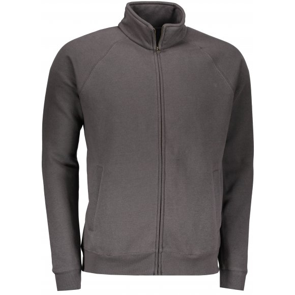 Pánská mikina FRUIT OF THE LOOM PREMIUM SWEAT JACKET LIGHT GRAPHITE