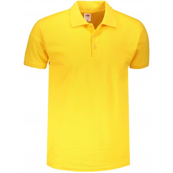 Pánské triko s límečkem FRUIT OF THE LOOM PREMIUM POLO SUNFLOWER
