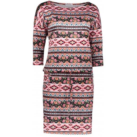 Dámské šaty NUMOCO  A13-94 RŮŽOVÁ/ČERNÁ
