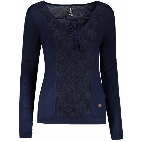 Dámské triko s dlouhým rukávem KIXMI IVONNE TMAVĚ MODRÁ