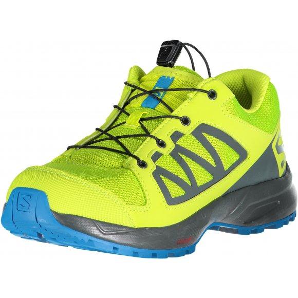 Dětské běžecké boty SALOMON XA ELEVATE J L40616900 ACID LIME/URBAN CHIC/HAWAIIAN SURF