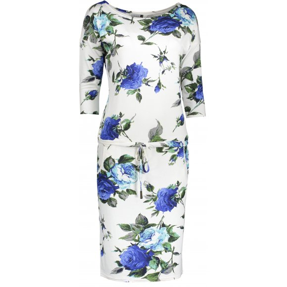 Dámské šaty NUMOCO A13-65 MODRÉ KVĚTY