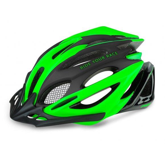 Cyklistická helma R2 PRO-TEC ATH02P ČERNÁ/ZELENÁ