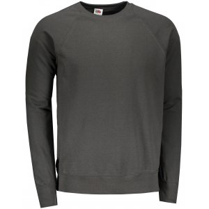 Pánská mikina FRUIT OF THE LOOM LIGHTWEIGHT RAGLAN SWEAT F621380 LIGHT GRAPHITE