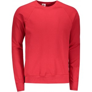 Pánská mikina FRUIT OF THE LOOM LIGHTWEIGHT RAGLAN SWEAT F621380 RED