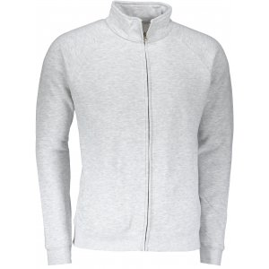Pánská mikina FRUIT OF THE LOOM PREMIUM SWEAT JACKET HEATHER GREY