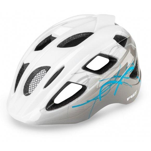 Dětská cyklistická helma R2 BONDY ATH07K BÍLÁ/ŠEDÁ/MODRÁ