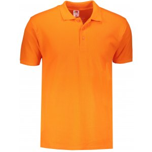 Pánské triko s límečkem FRUIT OF THE LOOM PREMIUM POLO ORANGE