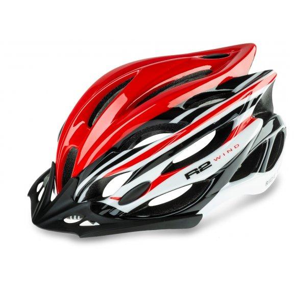 Cyklistická helma R2 WIND ATH01U ČERVENÁ/BÍLÁ/ČERNÁ