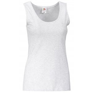 Dámské tílko FRUIT OF THE LOOM VALUEWEIGHT VEST LADY-FIT HEATHER GREY
