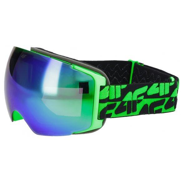 Lyžařské brýle 4F Z19-GGM151M GREEN NEON