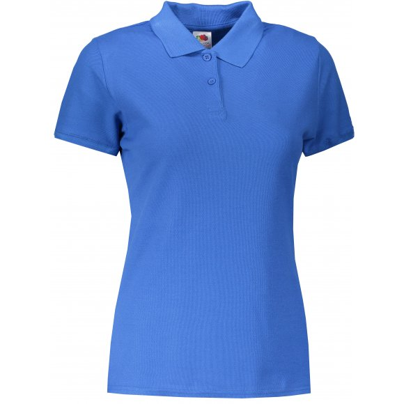 Dámské triko s límečkem FRUIT OF THE LOOM LADY-FIT PREMIUM POLO ROYAL BLUE