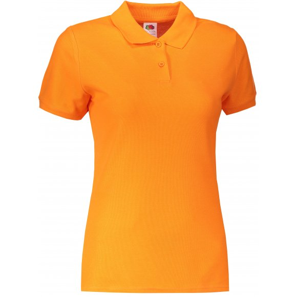 Dámské triko s límečkem FRUIT OF THE LOOM LADY-FIT PREMIUM POLO ORANGE