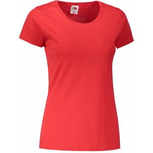Dámské triko FRUIT OF THE LOOM LADY-FIT VALUEWEIGHT T RED