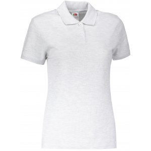 Dámské triko s límečkem FRUIT OF THE LOOM LADY-FIT PREMIUM POLO HEATHER GREY