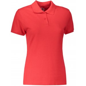Dámské triko s límečkem FRUIT OF THE LOOM LADY-FIT PREMIUM POLO RED