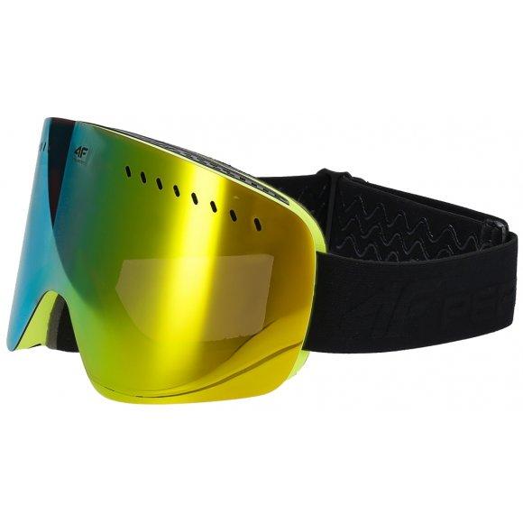 Lyžařské brýle 4F Z19-GGD150 YELLOW NEON