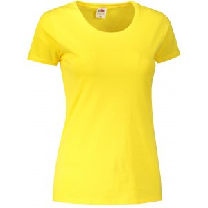 Dámské triko FRUIT OF THE LOOM LADY-FIT VALUEWEIGHT T YELLOW