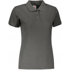 Dámské triko s límečkem FRUIT OF THE LOOM LADY-FIT PREMIUM POLO LIGHT GRAPHITE