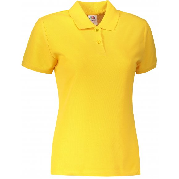 Dámské triko s límečkem FRUIT OF THE LOOM LADY-FIT PREMIUM POLO SUNFLOWER