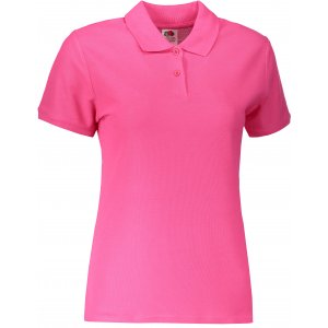 Dámské triko s límečkem FRUIT OF THE LOOM LADY-FIT PREMIUM POLO FUCHSIA