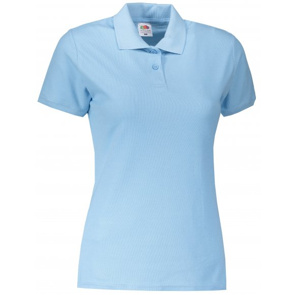 Dámské triko s límečkem FRUIT OF THE LOOM LADY-FIT PREMIUM POLO SKY BLUE