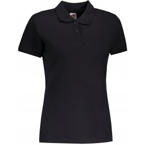 Dámské triko s límečkem FRUIT OF THE LOOM LADY-FIT PREMIUM POLO BLACK