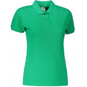 Dámské triko s límečkem FRUIT OF THE LOOM LADY-FIT PREMIUM POLO KELLY GREEN