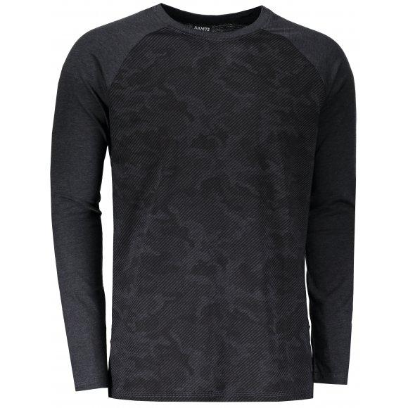 Pánské triko s dlouhým rukávem SAM 73 MT 759 ČERNÁ