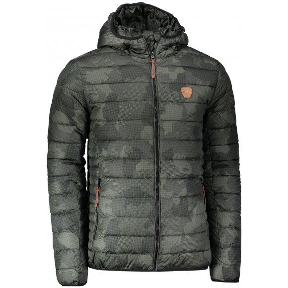 Pánská zimní bunda SAM 73 MB 742 TMAVĚ ZELENÁ