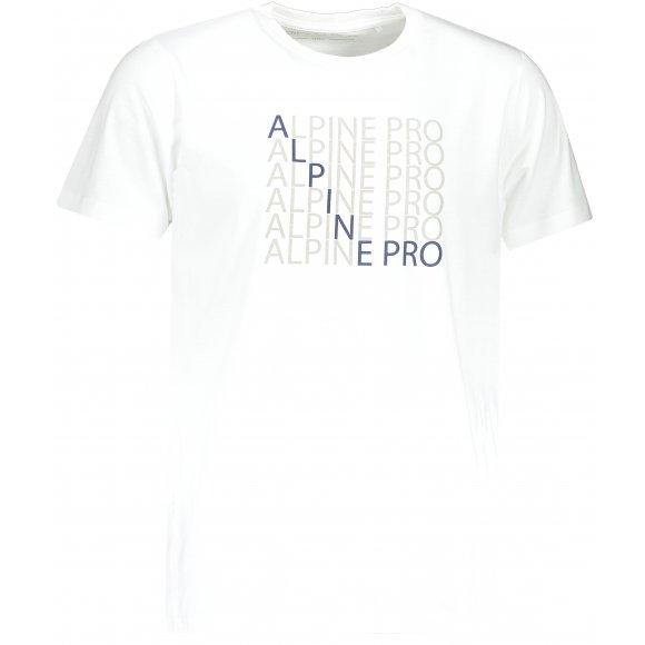 Pánské triko ALPINE PRO EMMET MTSP515 BÍLÁ