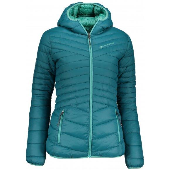Dámská oboustranná zimní bunda ALPINE PRO MUNSRA 5 LJCP346 ZELENÁ