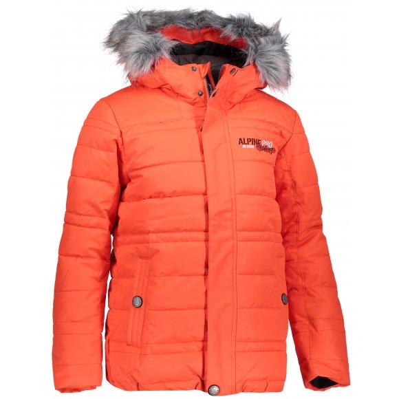 Dětská zimní bunda ALPINE PRO ICYBO 3 KJCP148 ORANŽOVÁ