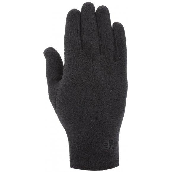 Fleecové rukavice 4F Z19-REU303 DEEP BLACK